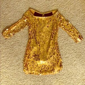 Weissman Dance Costume - Gold Sequin Dress